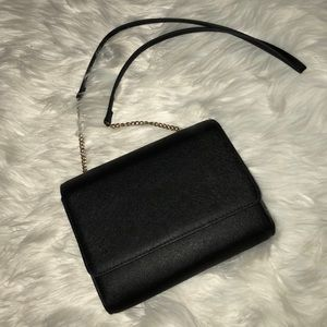 Black crossbody clutch bag